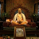 Srila Prabhupada murti in the temple room