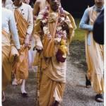 Prabhupada on a walk