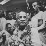 Prabhupada at the manor