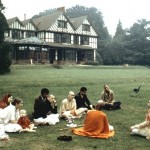 group on lawn